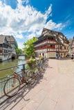 22 2012 Czerwiec Mały Francja okręg w Strasburg, Francja zdjęcie royalty free