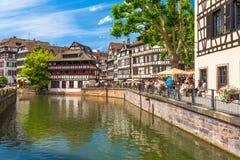 22 2012 Czerwiec Mały Francja okręg w Strasburg, Francja obraz royalty free