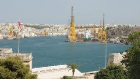 Czerwiec 2016 malta Valletta Schronienie żurawie zdjęcie wideo