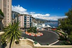 02 2014 Czerwiec Monte, Carlo -, Monaco - Obwód de Monaco jest stree Obrazy Stock