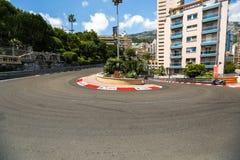02 2014 Czerwiec Monte, Carlo -, Monaco - Obwodu de Monaco ulica Obraz Stock