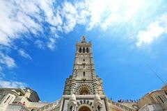 Czerwiec 3,2016: Notre Damae de los angeles Garde Marseille w Francja obrazy stock