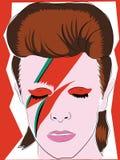 Czerwiec 1 2018 Wręcza rysującą barwioną ilustrację David Bowie, redakcyjny use royalty ilustracja