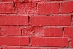 czerwieni ściana Zdjęcia Stock
