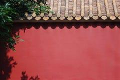 czerwieni ściana Fotografia Stock