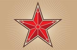 czerwieni gwiazda Zdjęcia Royalty Free
