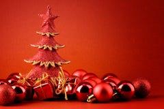 czerwieni karciany xmas Zdjęcie Stock