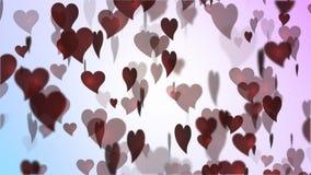 czerwieni kierowy valentine s zdjęcie wideo