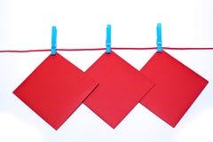 czerwieni koperty Fotografia Stock