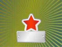 czerwieni militarna gwiazda Zdjęcie Royalty Free