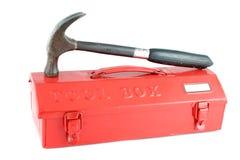 czerwieni pudełkowaty narzędzie Zdjęcia Stock
