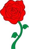 czerwieni róży wektor Fotografia Royalty Free