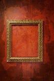 czerwieni ramowa stara ściana Fotografia Stock