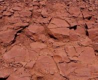 czerwieni skały tekstura Obraz Royalty Free