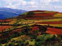 czerwieni sucha ziemia Yunnan Obraz Royalty Free