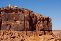 czerwieni wygryziona skała Fotografia Royalty Free