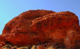 czerwieni wygryziona skała Zdjęcia Royalty Free