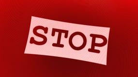 czerwieni znaka przerwa Zdjęcia Stock