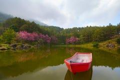 Czerwona łódź Zdjęcie Royalty Free