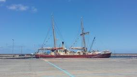 Czerwona łódź Obraz Stock