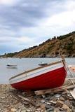 Czerwona łódź Fotografia Royalty Free