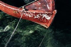 Czerwona łódź Zdjęcia Royalty Free