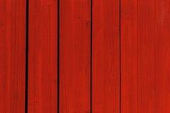 czerwona ściana drewna Fotografia Stock