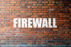 Czerwona ściana z cegieł tekstura z słowo zaporą zdjęcie stock