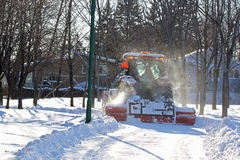 Czerwona śnieżna dmuchawa Zdjęcia Royalty Free
