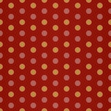 Czerwona Żółta polki kropka Zdjęcie Stock