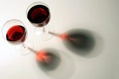 czerwona 2 wein szkła Fotografia Stock