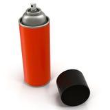 Czerwona Aerosolowej kiści metalu butelka Może odosobniony na białej 3D ilustraci royalty ilustracja
