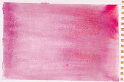 Czerwona akwareli tła tekstura Fotografia Stock