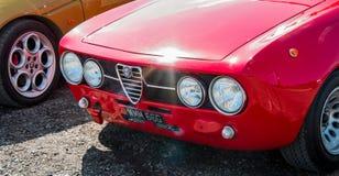 czerwona alfa Romeo fotografia royalty free