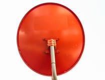 Czerwona antena satelitarna Zdjęcie Stock