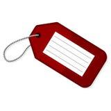 czerwona bagaż etykietka ilustracja wektor