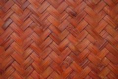 Czerwona bambusowa drewniana ściana Fotografia Royalty Free