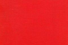 Czerwona bawełniana tkanka Obraz Stock