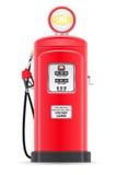 Czerwona benzyna wypełnia starą retro wektorową ilustrację Zdjęcia Stock