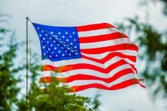 Czerwona biała i błękitna flaga amerykańska Obraz Stock