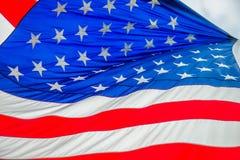 Czerwona biała i błękitna flaga amerykańska Zdjęcia Stock