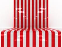 Czerwona & Biała platforma Zdjęcie Royalty Free