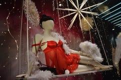 Czerwona bielizna seksowna Zdjęcia Stock
