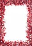 Czerwona Bożenarodzeniowa świecidełko girlanda Zdjęcia Stock