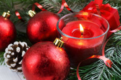 Czerwona boże narodzenie dekoracja Fotografia Stock