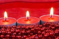 Czerwona Bożenarodzeniowa dekoracja Zdjęcie Royalty Free