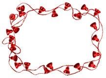 Czerwona Bożenarodzeniowego dzwonu girlandy rama Obraz Stock