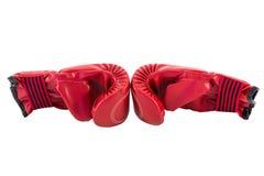 Czerwona bokserska rękawiczka Fotografia Royalty Free