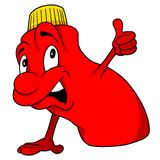 Czerwona butelka Zdjęcia Royalty Free