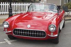 Czerwona Chevrolet korweta 1957 Zdjęcie Royalty Free